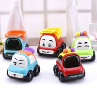 (Set of 3) Mini Cartoon Inertia Truck Sport Model Car Push e Go Friction Powered Car Play Vehicles Set Toys For Baby Gift