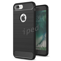Wholesale I5 Skin - Rugged Armor Hybrid Carbon Fiber TPU Shockproof Hard Cover Case Combo Texture Brushed Skin For iphone 7 plus i6 i5 samsung s7 edge colors 50