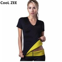 Wholesale Wholesale Women S Workout Clothes - Wholesale- CooL ZEE Summer Shapers Lose Weight Woman Short Sleeves Tops Fitness T Shirt Spontaneous Hot Thin Body Workout Clothing S-XXXL