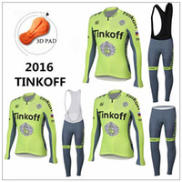 Wholesale Bicycle Light China - 2016 Tinkoff saxo bank cycling jerseys bike clothing long sleeve Autumn Winter bicycle mtb sport cycling clothes China Fluo light green
