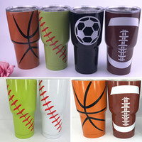 Wholesale Best Mugs - 30oz Baseball Basketball Cup Tumbler Mugs 304 Stainless Steel Vacuum Insulation Cup Beer Mugs Travel Cups Best Quality DHL Free WX-C20