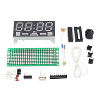 Simple de 4 dígitos del kit DIY Reloj Digital LED simple electrónica de sobremesa mini-reloj