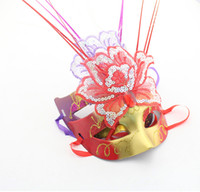 Jester/Jolly Mask black flash paper - New light rain butterfly mask flash performance masquerade mask The Spring Festival decorations