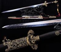 Wholesale China Razors - High Quality Handmade Clay Tempered Folded Steel Blade Razor Sharp Chinese Dragon Sword