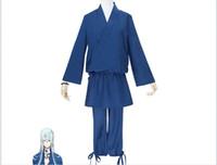 cosplay de touken ranbu venda por atacado-Os Recém-chegados Anime Japonês / Jogo Touken Ranbu Online Cosplay Kousetsusamonji Traje Top + Calças + Contas por conjunto