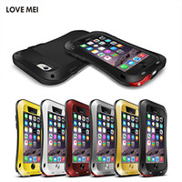 Wholesale Bumper Iphone Case Waterproof - for iPhone 7 6 6S 4.7inch LOVE MEI Case Waterproof Shockproof Gorilla Glass Small Waist Aluminum Frame Bumper Hard Case Cover Skin
