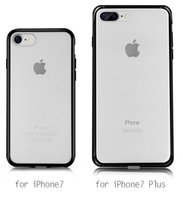 Wholesale Transparent Frosted Pc Tpu - Dual Candy Color Slim TPU+PC Transparent Clear Matte Frosted Frame Hard Plastic Case Cover for iPhone 7 Plus 6S 6 SE 5S 5 via DHL MOQ:100pcs