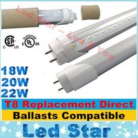 Wholesale Electronic Warming - T8 Replacement 4ft Led Tubes Lights Electronic Ballasts Compatible Led Tube 18W 20W 22W High Lumens Replace 1200mm Fluorescent Lamps