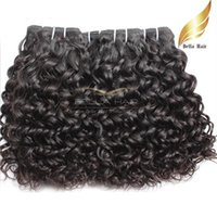 Wholesale Natural Human Hair Extensions 24 - 100% Human Hair Mongolian Hair Weaves Water Wave Human Hair Extensions Natural Color 3pcs lot Double Weft Bellahair Wholesale