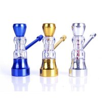 Wholesale High Quality Metal Pipe - High Quality Mini Hookah for Smoking Cigarette Metal Smoking Water Pipe With 3 Color Pipe Screen Glass Pipe Small Shisha Hookah