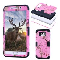 Wholesale Hybrid Screen Protector Stylus - For Samsung galaxy note 5 N9200 Camouflage Tree Impact 3 in 1 Hybrid Silicone Armor Combo Case w Screen Protector Film + Stylus Pen