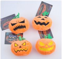 Wholesale key ring free anime resale online - New Halloween Pumpkin Plush dolls Key ring backpack Pendant cartoon Halloween plush Keychain Mixed Styles