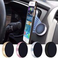 Wholesale Stick For Car - 2017 new Universal mini Magnet Aluminum Flat Stick Car Mobile Phone Holder 4 colours For All cellphone