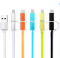 Wholesale Types Cell Phones Cables - Promotion newest 2 in 1 USB cable fast charging type C magic smart phone charger for cell phone