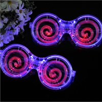 Creative LED Light Glasses Lollipop masque de verre clignotant pour enfants Halloween Festival de Noël Gift Party Decoration Supplies ZA4544