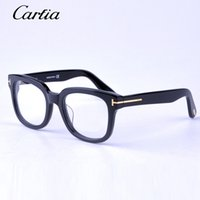 Black spectacles eyeglasses - Brand TOM FOR optical frames men women TF5179 fashion acetate big frame spectacle optical eyeglasses myopia eyeglass glasses original case