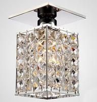 warm geführtes kronleuchter großhandel-Neuankömmling ! Modernes quadratisches LED Kristallleuchterdeckenlicht, warmes Weiß / Weiß, Guaranteed100% Energie-Ausgangslampen