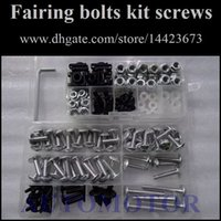 Wholesale Suzuki Fairing Bolts Black - Fairing Screw Bolts Kit black For SUZUKI GSXR600 GSXR750 GSXR 600 750 96 97 98 99 00 1996 1997 1998 1999 2000 Fairings Bolts Screws