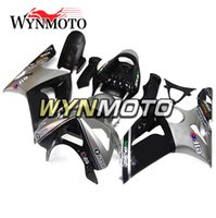 Wholesale zx6r silver black - Silver Black Fairings for Kawasaki ZX-6R ZX6R 2003-2004 03 04 ABS Plastics Injection Plasrics Motorcycle Fairing Kit Bodywork Body Frames