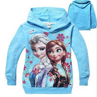 Wholesale Kids Clothes Size 95 - kids Hoodies children Hoodies 95% cotton girls coats cartoon clothing 2 colors size for 2-7T children 2016 autumn winter kids clothing