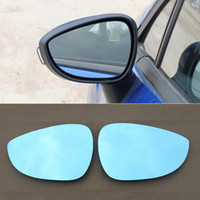 Wholesale Led Light For Mirror Car - For Ford Fiesta Car Rearview Mirror Wide Angle Hyperbola Blue Mirror Arrow LED Turning Signal Lights Free shipping