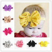 abe41444b16 New Arrival Cute Baby Headbands Chiffon bow Elastic Headband Children Hair  Accessories Kids Hairbands for Girls Bow Headwear Headdress BK183