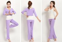 Wholesale Three Quarter Female Suit - New Autumn And Winter Women Cotton Yoga Sportswear Suits Modal Yoga Three-Piece Clothes Yoga Sports Thin Suit Female