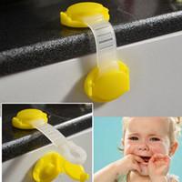 bebekler için dolap kilitleri toptan satış-1 Adet Bebek Plastik Dolap Kilitleri Çocuk Çocuklar Çekmece Dolap Kilidi Uzun Tarzı Emniyet Kilidi Buzdolabı Dolap Kapı Kilidi