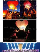 Wholesale Heart Chinese Wish - Red Heart Sky Lanterns,Wishing Lantern fire balloon Chinese Kongming lantern Wishing Lamp Birthday Christmas Wedding Party LLFA