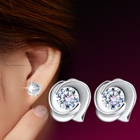 Wholesale 925 Silver Rose Stud Earrings - 925 sterling silver jewelry Korean version of the 2014 new fungus retro earrings Ms. Rose Earrings