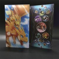 Wholesale Charizard Action Figure - Hot Sale Poke Go Cards Album Book Anime Figures Kawaii Pikachu Charizard Action Figure Albums Kids Toys Can Put 84pcs Cards