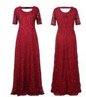 plus größe abendkleider 5xl großhandel-Frauen plus Größen-Kleidung 6XL 9XL kleidet langes Spitze-Partei-formales Kleid-Abend-Ballkleid 7XL 5XL Kleidung