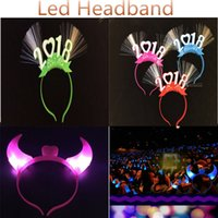 Concerto LED Head Hoop Halloween Rave Toy Plastic Light Up Headband Glowing hairband 2 modelos Mixed Colors DHL grátis