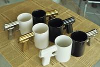 Wholesale Wholesale Handguns - Creative personlized Handgun Ceramic Coffee Mug with Gun handle Home Kitchen Gift Cup DHL Free Shipping