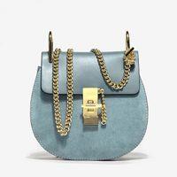 Wholesale Handbag Real - Top Quality Popular Fashion Brand Design handbags Women Genuine Leather Cloe Bag Chain Bao Bao Ladies Real Cowskin Shoulder Bag