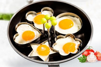Wholesale Heart Shaped Omelette - Stainless Steel Flower Star Heart Circle-shaped Fried Egg Device Rings Circle Mold Omelette Pancake Thick Sugar craft Cake Mold Kitchen Tool