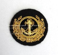 Wholesale Wholesale Navy Uniform - Exquisite hand embroidered British royal navy uniform wind anchor badge accessories necessary size: 3.5CM