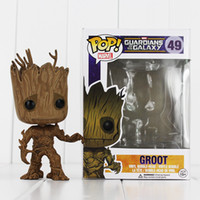 Wholesale Pop Figure Funko - Funko POP Guardians of the Galaxy Tree People PVC Action Figure Dolls With Box free shipping