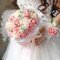 Wholesale Sell Wedding Bouquets - Beautiful Bouquets Wedding 2016 Hydrangea Wedding Flowers Artificial Bridal bouquet Best Selling 4 Colors Bridesmaids Bouquet Cheap