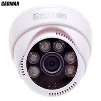 массив cctv оптовых-Gadinan CMOS 800TVL / 1000TVL 2.8 mm объектив безопасности ИК 6 массив светодиодов CCTV крытый Cam ночного видения наблюдения HD купольная камера