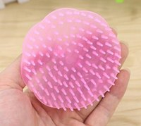 Wholesale Pink Massager - New Arrive Shampoo Washing Hair Massage Brush Massager Comb Scalp Shower Body Random Color
