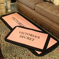 Wholesale Livingroom Carpets - Victoria Pink Carpets VS Yoga Mat Parlor Kitchen Floor Mat 50*150CM 50*70CM Home Carpets For Livingroom