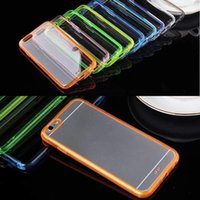 2015 Direct Selling Tpu ultra fino Shell transparente para Iphone 6 6plus caso 6plus para Apple Mobile Phone Clear Soft