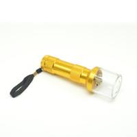 ingrosso spezia per il fumo-Nuova torcia elettrica in alluminio a forma di torcia Smerigliatrice per macinacaffè Smerigliatrice di erbe aromatiche