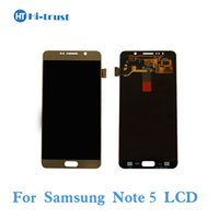 Wholesale Note Screen Parts - Grade AAA+++ AMOLED LCD Screen Display for Samsung Galaxy Note 5 N9200 N920C N920A SM-N920Touch Screen Digitizer Assembly Replacement Parts