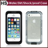 Para o iPhone 4 4S 5 5S Waterproof Case Dirtproof Shockproof Hard PC + Silicone Hybrid Surfing Hiking Back Cover DHL Shipping