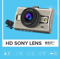 Wholesale Gps Parking Detector - car dvr NT96663+Dual Sony IMX322 Lense HD 1080P With Front and Rear  With GPS Tracking, FCW, LDWS, Parking Monitor  128G  Front 170 Degree