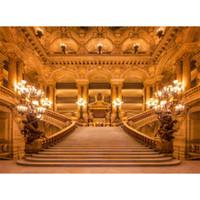 décors de fées achat en gros de-Château de toile de fond pour la photographie d'escalier intérieur bougie lumière fille princesse partie de bal de bal