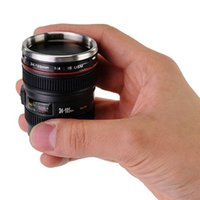Wholesale Mini Camera Keyring - Mini Camera Lens Mug Cup 24-105mm Coffee Tea Travel Mug Stainless Steel Thermos w  Portable Key Chain Keyring caneca Copos