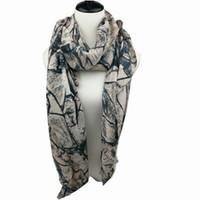 Wholesale Price Chiffon Silk Scarfs - 2016 New designer european stylish rocks printing cotton fashion scarf women pretty shawls winter colors cheap price on sale